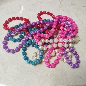 VTG silk beaded 1960's fashion necklaces